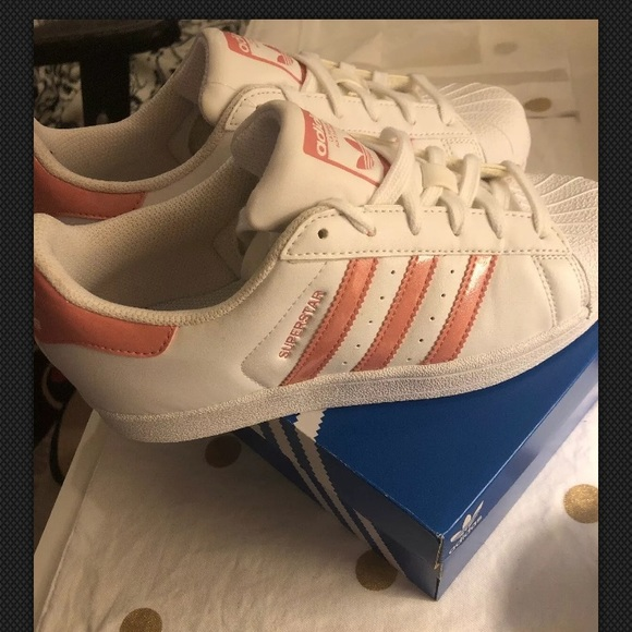 adidas Other - Brand new Adidas superstar white and pink sneakers
